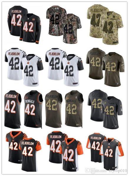 2019 encargo cualquier número Numa mejor llevar el maillot Rugby Cincinnati 42 hombres Clayton Fejedelem Negro Bengala / mujeres / fútbol de la juventud jerseys s-xxxx