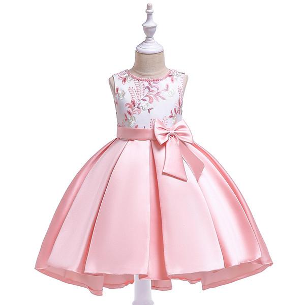 Compre Vestidos De Fiesta Para Niños Ropa De Verano Vestido De Flores Para Niñas Vestidos De Niñas Para Fiesta De Bodas Niñas Sin Mangas Vestido De