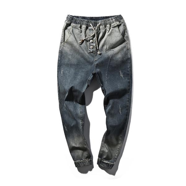 Roupas masculinas Jeans Casual 2017 Homens Denim Hip-hop Calças de Brim Harem Pants Calças Masculinas Calças Azuis Tamanho Grande Jardas 5xl Y190603