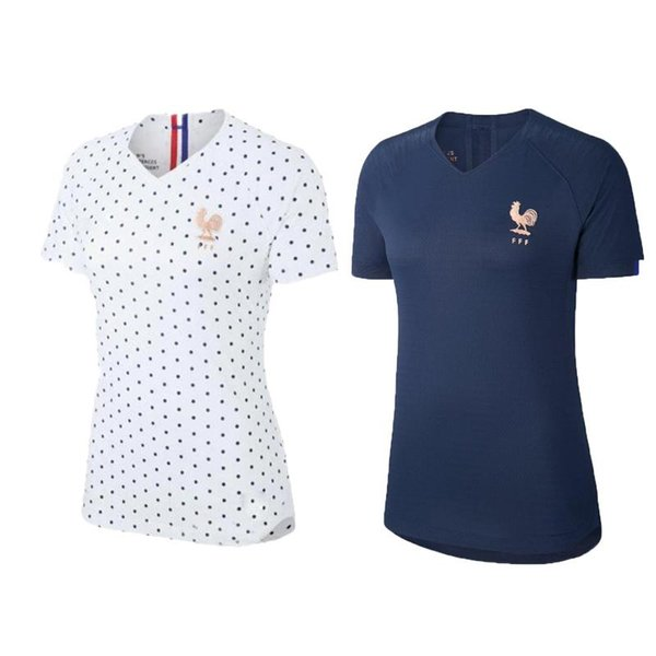 2019 Women World Cup France 17 Gaetane Thiney Jersey Lady Soccer 9 Eugenie Le Sommer 3 Wendie Renardrt Football Kits Uniform Blue White