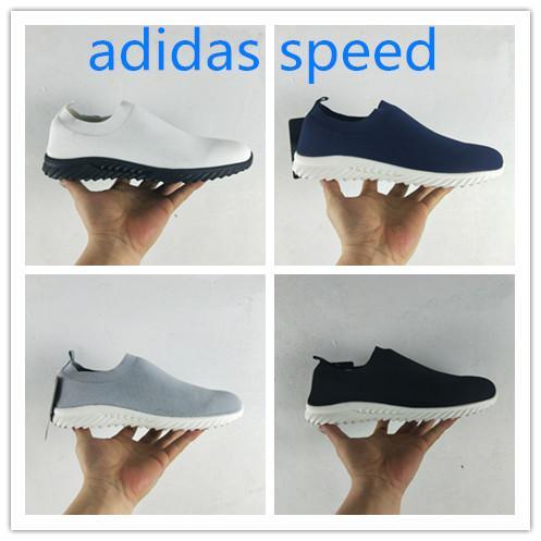 [Com caixa] 2019 Novo Designer de Sapatilhas Trainer Velocidade Preto Mans Moda Plana Meia Botas Sapatos Casuais Speed Trainer Runner Men