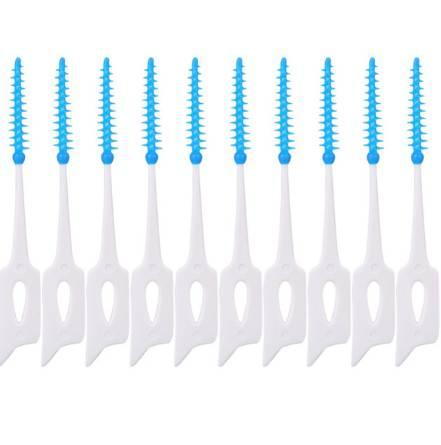 40 pcs/pack Push-Pull Interdental Brush 0.7mm Gum Interdental Brush Orthodontic Wire Brush Toothbrush Oral Care Toothpick