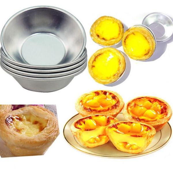Egg Tarts Mould 7cm Pasteis De Nata Oven Bake Round Custard Tin Cake Cupcake Rice DIY Baking Tool
