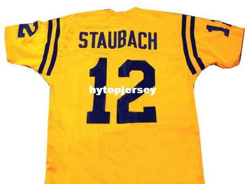 d941cb3ac CUSTOM NAVY JERSEY ROGER STAUBACH YELLOW SEWN NEW - ANY NAME, #, or SIZE  Cheap football Jerseys