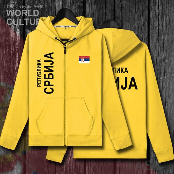 Sırbistan Sırp Sırpları SRB Srbija mens fleeces hoodies kış formaları erkek ceket ve mont elbise ulus ülke kazak