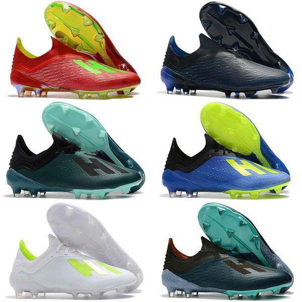 La alta calidad X 19.1 Zapatos FG fútbol para hombre al aire libre con las grapas del cordón chaussures baratos crampones botas de fútbol x19 + scarpe da Calcio
