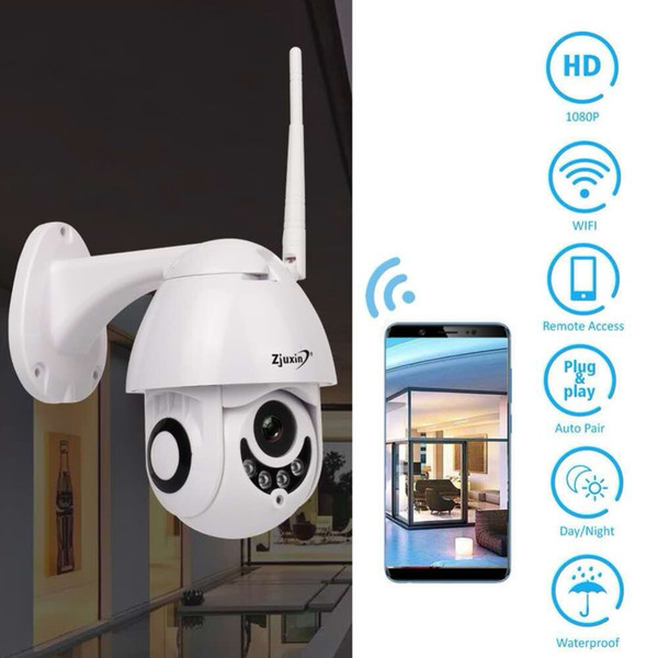 Telecamera WIFI Telecamera IP PTZ da esterno 1080p Telecamere di sicurezza CCTV a cupola IP WI-FI Esterno 2MP IR Home Surveilance