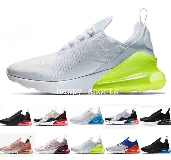 Compre 2019 Nike Air Max 270 CNY Habanero Rojo Hombres Mujeres Zapatos Para Correr Flair Triple Negro Núcleo Blanco Entrenador Deportivo Mediano Oliva