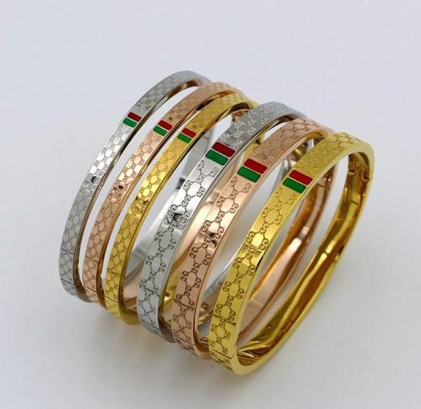 Nova L Marca Designer pulseira Para as mulheres Senhoras de aço de Titânio Moda pulseira com 3 cores de Jóias de Luxo Frete Grátis