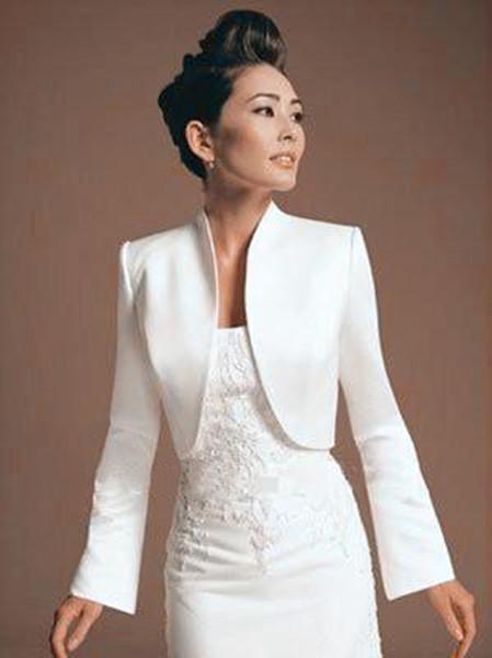 Navy soft Women Bolero Long Sleeve Sheer Summer Bridal Wraps Evening Party Dress Wedding Cape Plus Size 2019 Formal cloak capa