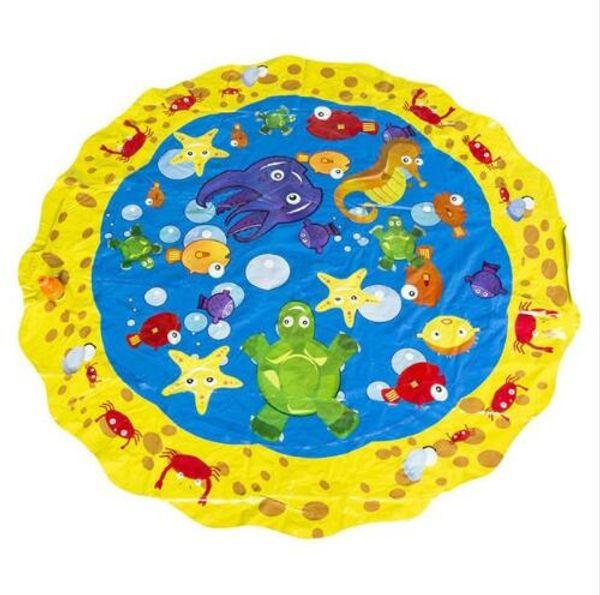 100cm 2019 Sprinkle Splash Play Mat Toy Baby Water Spray Pad Pat Kids Outdoor Sprinkler Toys Perfect Inflatable Outdoor Sprinkler pad