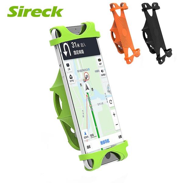 Sireck Bicycle Bike Phone Holder 4''-6'' Smart Mobile Phone Holder Anti-slip Bike Handlebar Clip Stand GPS Mount Bracket #689070