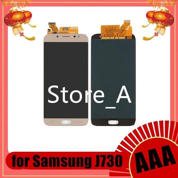 Para Samsung Galaxy J730 LCD J7 Pro 2017 Pantalla J730F SM-J730F Pantalla táctil LCD Digitalizador Asamblea Ajuste de brillo Reemplazo