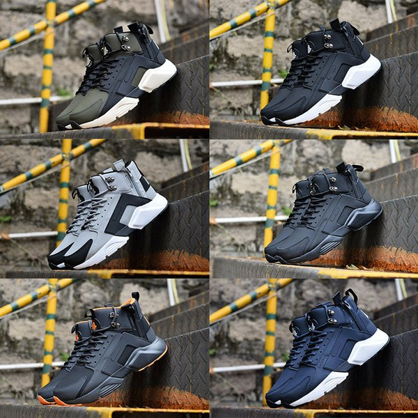New Arrival Mens Air Huarache 6 X Acronym City Mid Leather Designer Running Shoes High Top Trainers Huaraches Sneakers Size 40-45