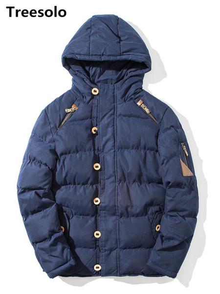 vestes pour hommes d'hiver et manteaux épais manteau chaud solide manteau de coton rembourré hommes couleur avec capuche de haute qualité hombre 832 parka