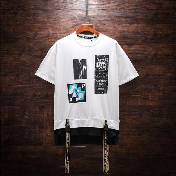 2019 Новый стиль Оригинальные стримеры мужская футболка с короткими рукавами Мужская футболка Личность Дикий Негабаритные Летняя уличная рубашка Хлопковая футболка
