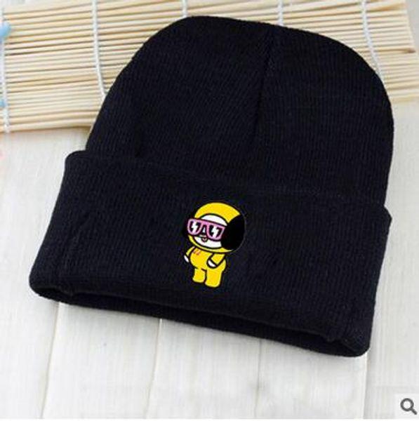 Новая Франция мода мужских дизайнеры шляпа капот зимой шапочка вязаной шерсти шляпы плюс бархатной шапочку Skullies Thicker маски Fringe Шапочка шляпа человек