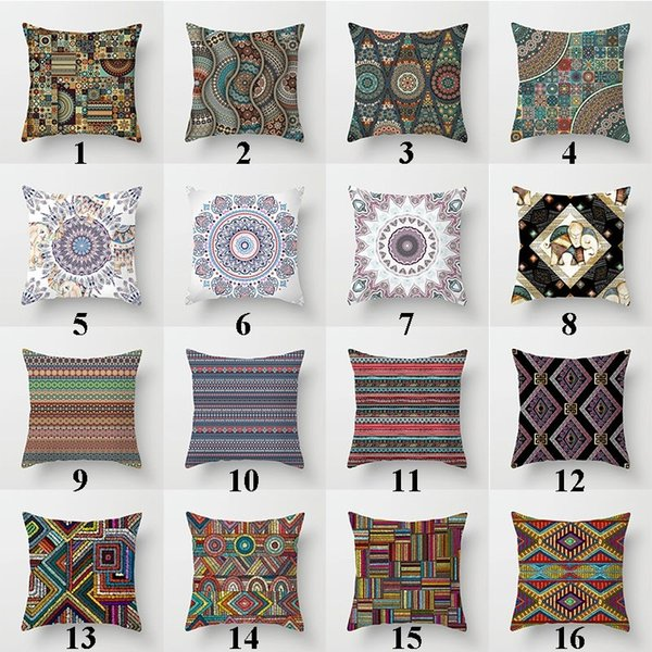 Strange Mandala Bohemian Pillowcase Boho Pillowcases Minority Mandala Cushion Covers Home Decor 45 X 45Cm 18 X 18 Couch Pillow Covers Cool Pillow Cases Pdpeps Interior Chair Design Pdpepsorg