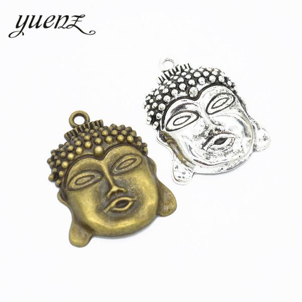 YuenZ 3 pcs de Prata Antigo / Bronze Banhado a cabeça de Buda Encantos Pingentes Jóias Fazendo Pulseira Acessórios Artesanato Diy Artesanal T67
