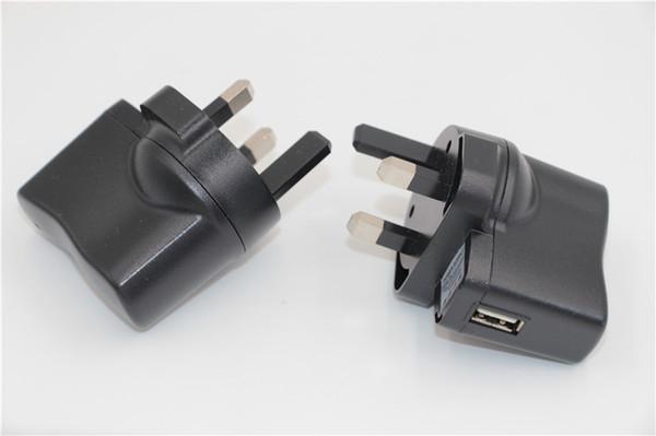 Spina UE Spina UK Regno E-cig Ego ce4 Caricatore da viaggio USB da viaggio Spina a 3 pin per iphone samsung adattatore caricatore da muro per cellulare adattatore di alimentazione CA