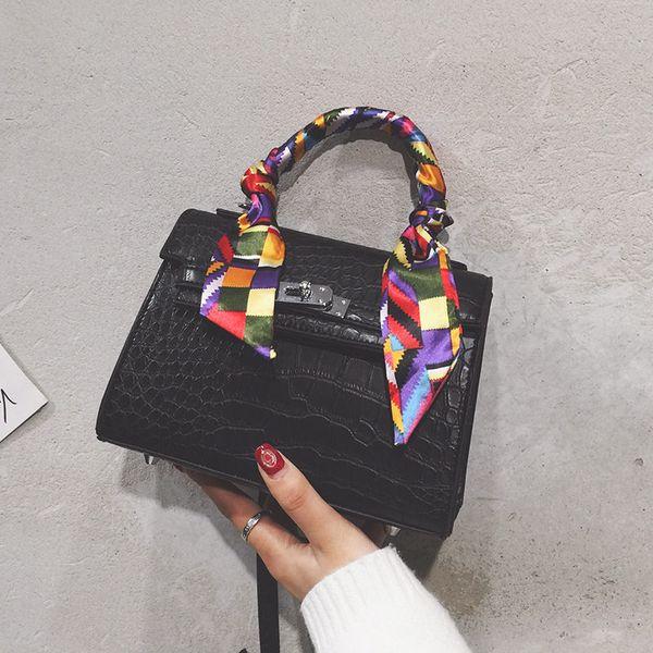 Новая сумка через плечо с крокодиловым зерном, отличное качество изготовления, сумка через плечо, высококачественная искусственная кожа, многоцветная сумка в продаже