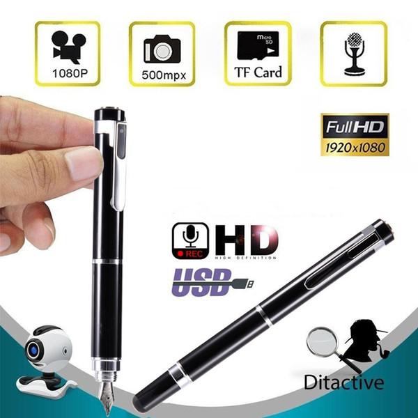 32GB New HD 1080P Mini Pen Camera Portable Mini Camcorder Pen Shape Video Recorder Nanny Cam Pocket USB DVs Loop Recording