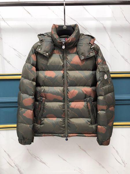 Quality quality Luxury MAYA Mens Brand European Size 90%Goose Solid Coat Camouflage Down Jacket Men women Cold Warm Mens designer jackets