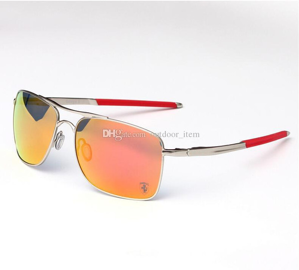Brand metal frame ungla e driving ungla e uv400 len port un gla e fa hion polarize cycling eyewear outdoor gogge 4124more color