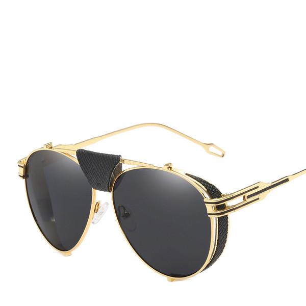 Retro Punk Sunglasses Full Frame Luxury Glasses For Men Women Good Quality Uv Protection Fashion Eyewear Popular Street Sunglass