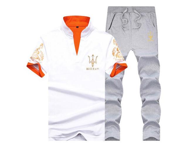 Marca 3XL New Mens manga corta traje Sportwear verano moda impresión fresco Casual conjuntos cortos hombres trajes de ocio AF1790