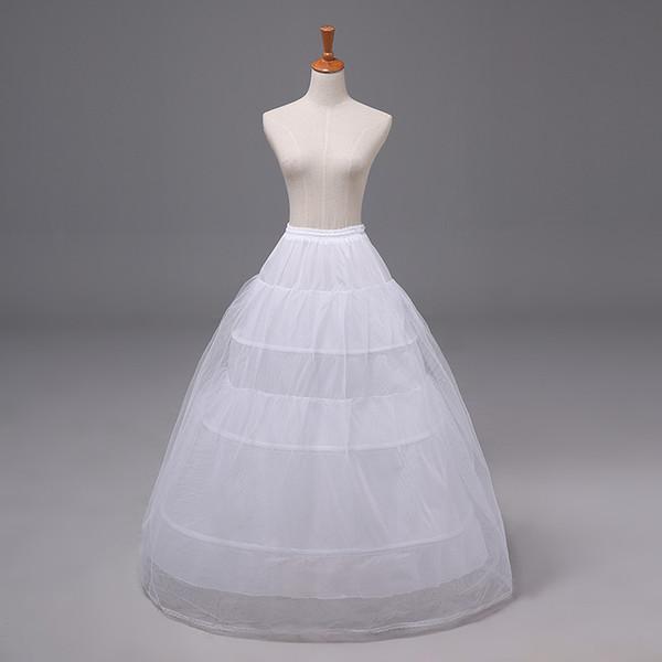 2020 A-ligne pas cher jupon robe de bal robe de mariée robe de mariée Crinoline Quinceanera sous-jupe accessoire de mariage sous-vêtement blanc Bustle 12011