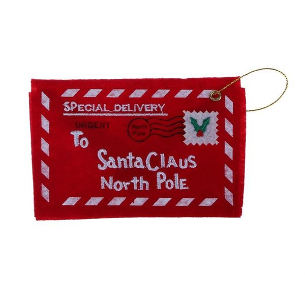 1PCS Comfortable Christmas Envelope Christmas Invitation Greeting Cards Candy Bag High Quality Non-woven Fabrics Material Decor