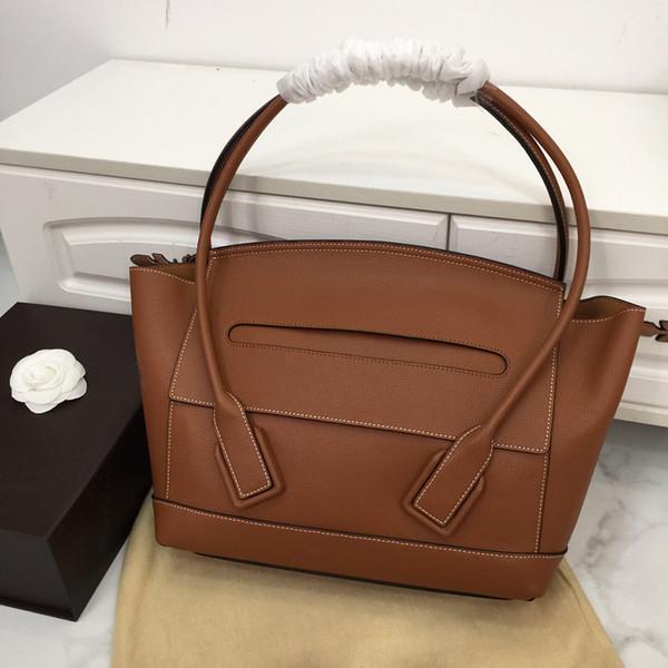 2019 новый дизайн одежды высокого качества большой размер женская сумка из натуральной пены коричневый цвет Bat сумка для леди большой форме уха с мешком для пыли