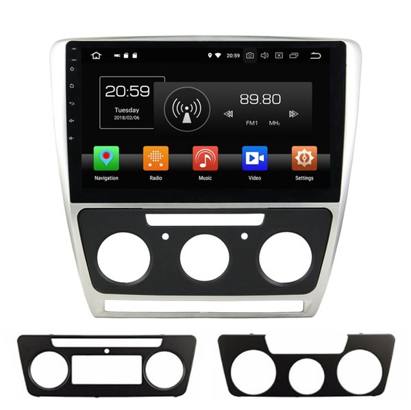 "Octa Core 1 din 10.1"" Android 8.0 Car DVD GPS for Skoda Octavia 2007-2014 With Car Radio Audio Bluetooth WIFI USB 4GB RAM 64GB ROM"