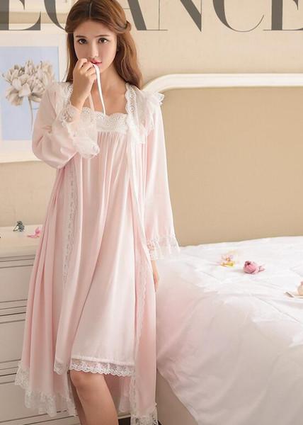 Roupão de banho de terno de duas peças para noivas de corpo inteiro lingerie camisola pijamas pijamas pijamas para mulheres vestidos de roupão roupão pijamas loung