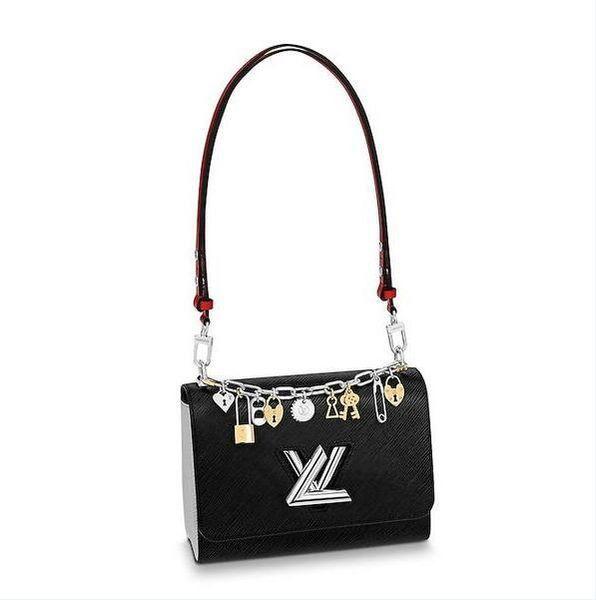 2019 Brand Fashion Luxury Designer Crossbody Handbags DHL Bags Epi Genuine Leather All Denim Handbag Cross Body Bag TWIST MM Clear Plum