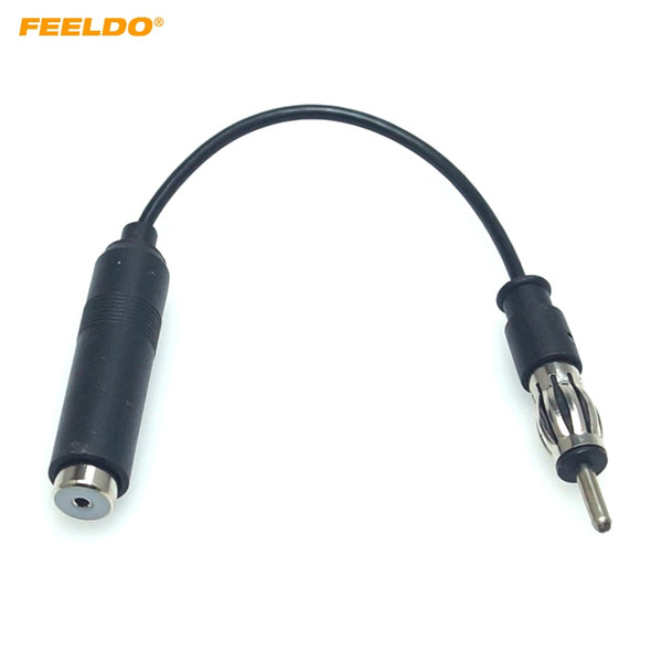 Feeldo Auto Car Audio Stereo Radio ISO verso din maschio aerea AM FM Antenna Extension Plug Adapter / Cavo # 6011