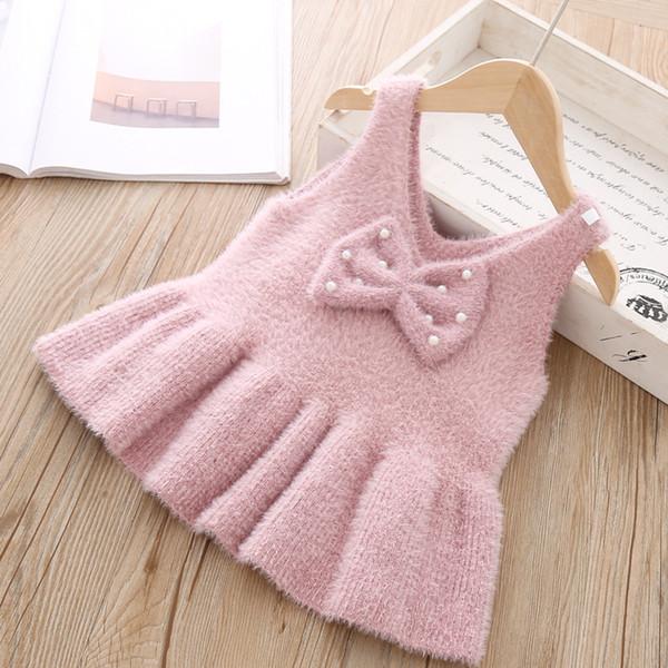 Le nuove neonate vestono l'usura calda lavorata a maglia L'autunno sveglio sveglio la maglietta infantile del bambino dell'infante di inverno per i vestiti di Natale della lana della ragazza