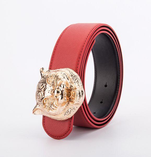 New arrival fashion man tiger head buckle designer belts high quality mens belts luxury men leather belt multi colors