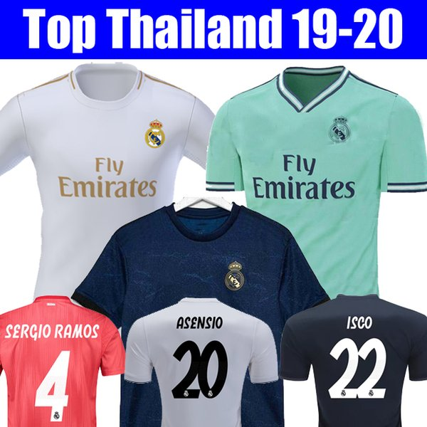 6949284e8c4 Thailand 18 19 20 Real madrid 2019 2020 EA Sports Jerseys MARIANO ISCO soccer  jerseys MODRIC
