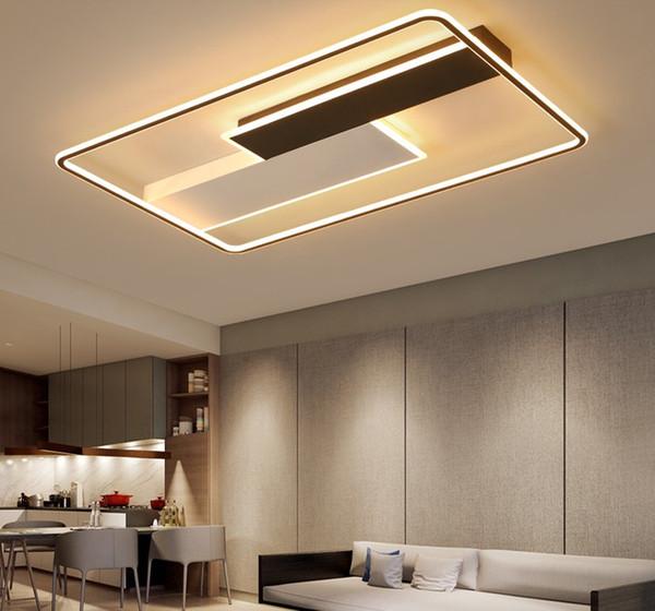 Teto moderno quadrado LED Led Lustres luzes lâmpada para sala de estar Sala de jantar Quarto Lustres Função Chandelier aparelho de iluminação