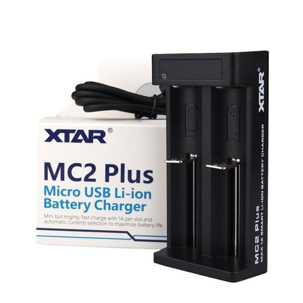 Xtar MC2 Artı Mini USB Li-Ion Pil Şarj için Evrensel 3.7 V 18650 20700 21700 14500 16340 10440 18500 Piller