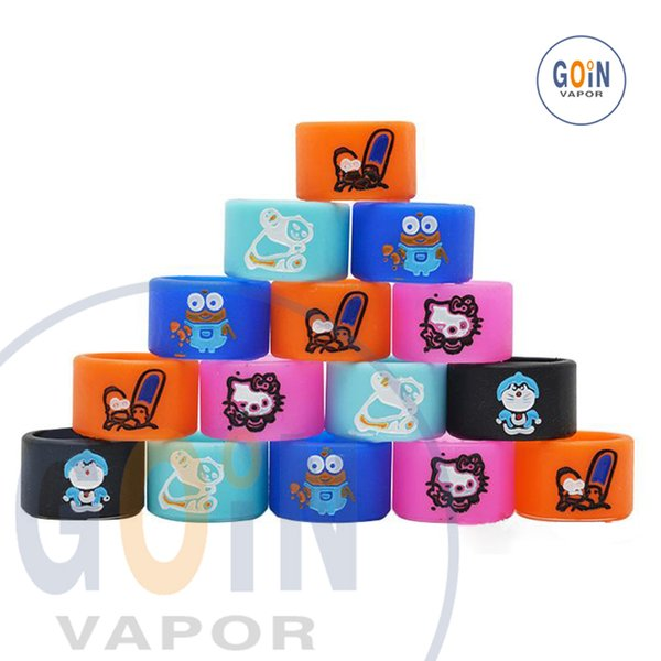 Newest Vape Cartoon Silicone Rubber Protection Decorative Ring band Silicon Rings Engraved For EVOD EGO T Twist Series vape pen band food