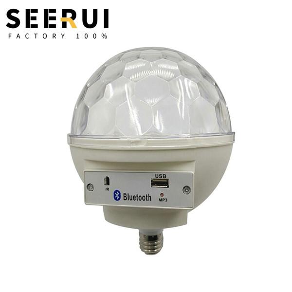 E27 spirale bocca controllo vocale grande sfera magica lampada da palco evidenziare KTV laser stadio usb lampada sfera magica