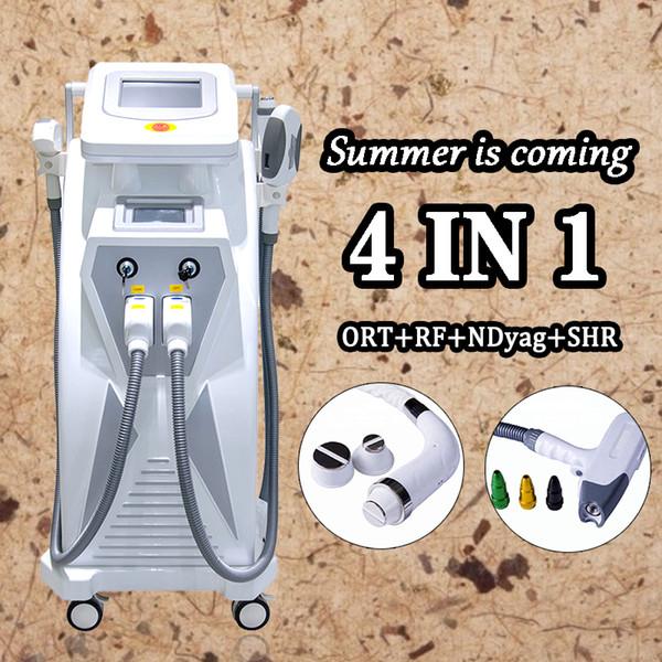 Neue Art Leistungsstarke 3 in 1 Opt + RF + Laser Shr Hautverjüngungs-Tätowierungs-Haar-Abbau-Maschine DHL-freie Fracht