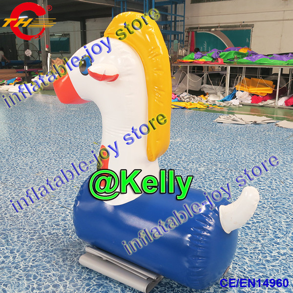 6pcs per lot funny inflatable deby horse racing game for sale commercial inflatable pony horse jumping horse sport games