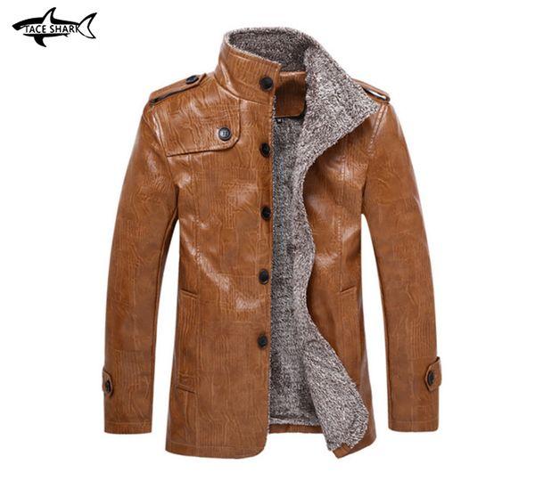 Big Size Leather Jackets M-8XL Crocodile leather jacket Men's Clothes winter Coats Men Outwears  Clothing Men's Jacket