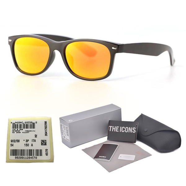 1pcs wholesale - Brand designer sunglasses men women High quality sun glasses uv400 glass lens eyewear unisex glasses with free case and box