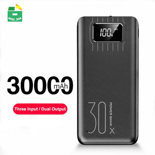 Power Bank 30000mAh Schnellladepowerbank mit LED-Anzeige Tragbares externes Ladegerät für Smartphones