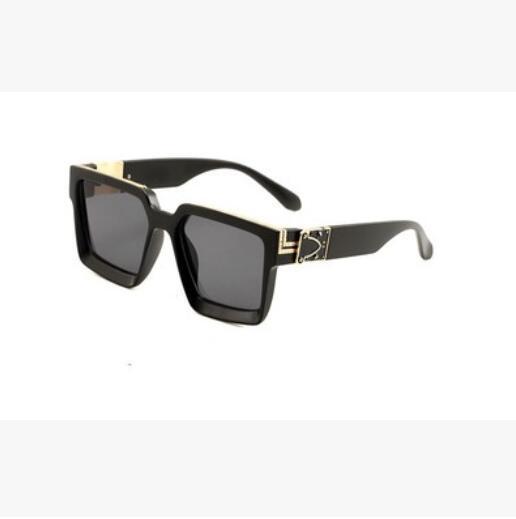 erkekler tam çerçeve Vintage tasarımcı güneş gözlüğü için Güneş Parlak Altın Logo Sıcak satmak Altın 0993 plakalı erkekler için